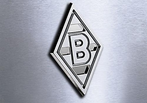 bmg borussia m246nchengladbach 3d chrom logo auto aufkleber
